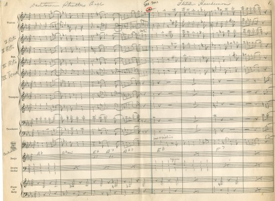 A sneak peak at one of the arrangements from the archive which I'll be using for the concert.