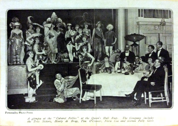 Cabaret Follies at the Queen's Hall Roof, Hylton picture on the right hand side.