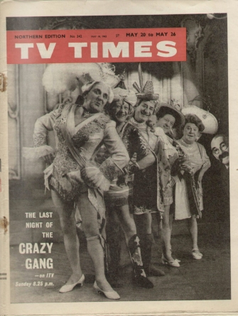 TV Times from May 1962, featuring The Crazy Gang.
